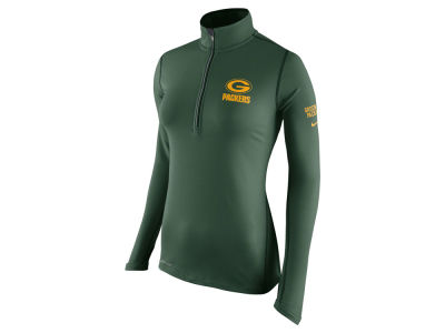 Green Bay Packers Nike NFL Women's Tailgate Element Quarter Zip Pullover