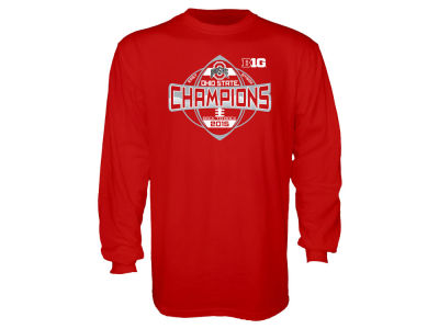 Ohio State Buckeyes Blue 84 NCAA 2015 Big 10 East Division Champions Long Sleeve T-Shirt