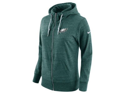 Philadelphia Eagles Nike NFL Women's Tailgate Vintage Full Zip Hooded Sweatshirt