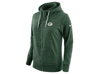 Green Bay Packers Nike NFL Women's Tailgate Vintage Full Zip Hooded Sweatshirt