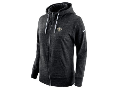 New Orleans Saints Nike NFL Women's Tailgate Vintage Full Zip Hooded Sweatshirt