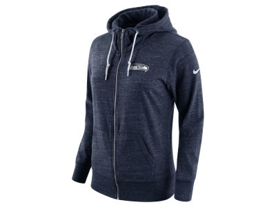 Seattle Seahawks Nike NFL Women's Tailgate Vintage Full Zip Hooded Sweatshirt