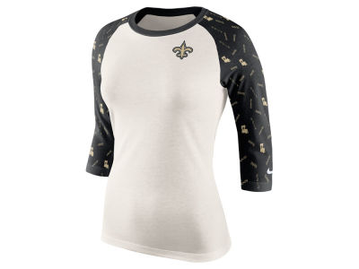 New Orleans Saints Nike NFL Women's Tri Victory Raglan Shirt