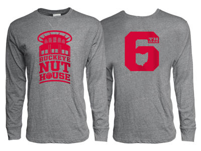 Ohio State Buckeyes J America NCAA Men's Nuthouse Long Sleeve T-Shirt