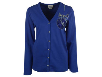 Kentucky Wildcats Ornament NCAA Women's Plus Size Bling Ornament Crystal Cardigan Sweater