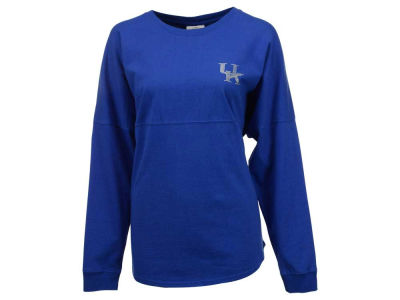 Kentucky Wildcats Ornament NCAA Women's Rhinestone Sweeper Long Sleeve T-Shirt