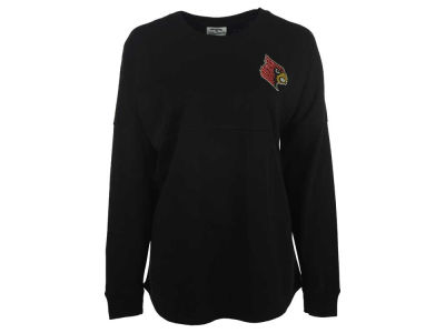 Louisville Cardinals Ornament NCAA Women's Rhinestone Sweeper Long Sleeve T-Shirt