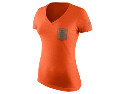 Miami Dolphins Nike NFL Women's Pocket V-Neck T-Shirt
