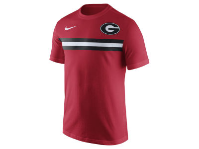 Georgia Bulldogs Nike NCAA Men's Cotton Team Stripe T-Shirt