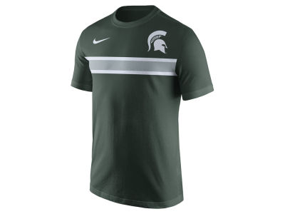Michigan State Spartans Nike NCAA Men's Cotton Team Stripe T-Shirt