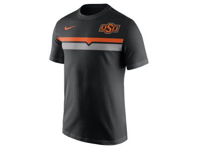 Oklahoma State Cowboys Nike NCAA Men's Cotton Team Stripe T-Shirt