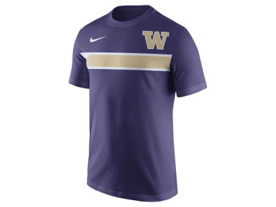 Washington Huskies Nike NCAA Men's Cotton Team Stripe T-Shirt