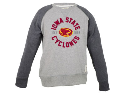 Iowa State Cyclones NCAA Youth Jay Raglan Crew Fleece Sweatshirt