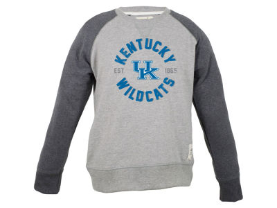 Kentucky Wildcats NCAA Youth Jay Raglan Crew Fleece Sweatshirt