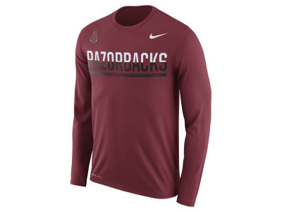 Arkansas Razorbacks Nike NCAA Men's Legend Staff Sideline Long Sleeve T-Shirt