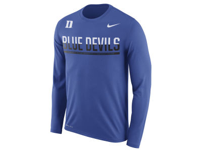 Duke Blue Devils Nike NCAA Men's Legend Staff Sideline Long Sleeve T-Shirt