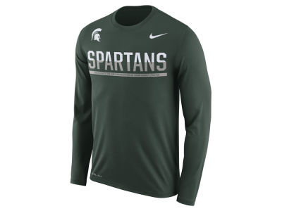 Michigan State Spartans Nike NCAA Men's Legend Staff Sideline Long Sleeve T-Shirt