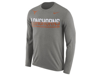 Texas Longhorns Nike NCAA Men's Legend Staff Sideline Long Sleeve T-Shirt