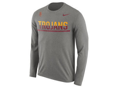 USC Trojans Nike NCAA Men's Legend Staff Sideline Long Sleeve T-Shirt