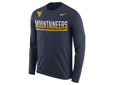 West Virginia Mountaineers Nike NCAA Men's Legend Staff Sideline Long Sleeve T-Shirt
