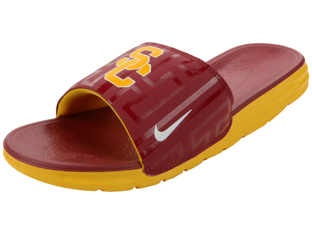 4b5ba86bd5c442 USC Trojans Nike NCAA Men s Benassi Solarsoft Slide Sandals