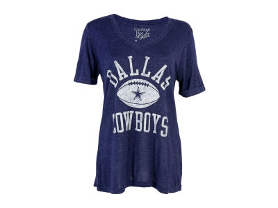 Dallas Cowboys  NFL Women's Alvord Glitter T-Shirt