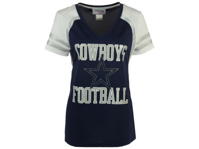 Dallas Cowboys NFL Women's Baker Rhinestone T-Shirt