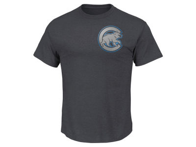 Chicago Cubs Anthony Rizzo MLB Men's Platinum Player T-Shirt