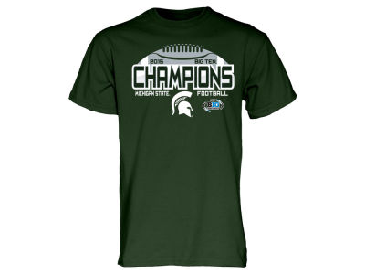 Michigan State Spartans Blue 84 NCAA Men's 2015 Big 10 Champ Locker Room T-Shirt