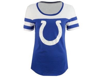 Indianapolis Colts 5th & Ocean NFL Women's Limited Edition Rhinestone T-Shirt