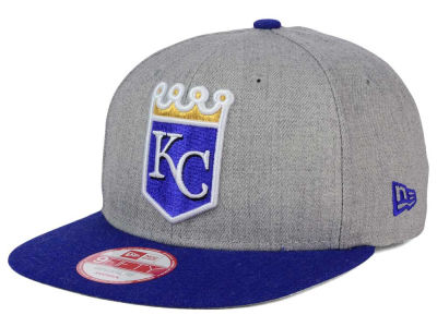 Kansas City Royals New Era MLB Heather 2 Tone 9FIFTY Snapback Cap