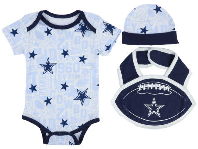 Dallas Cowboys NFL Newborn Mason Bib Set
