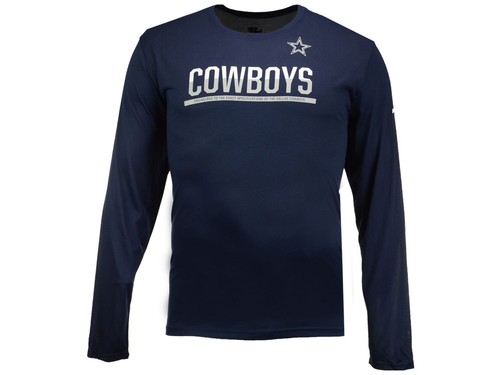 Dallas Cowboys Nike NFL Men s Team Practice Long Sleeve T-Shirt ... 6c7354009