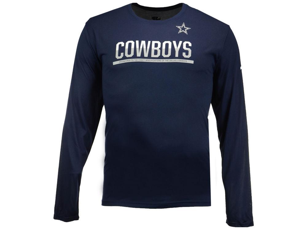 Dallas Cowboys Nike NFL Men s Team Practice Long Sleeve T-Shirt ... f22a8fc77
