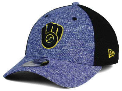 Milwaukee Brewers New Era MLB Team Color Tech Fuse 39THIRTY Cap