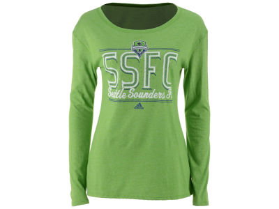 Seattle Sounders FC adidas MLS Women's Soccer Swirl Long Sleeve T-Shirt