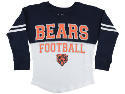 Chicago Bears 5th & Ocean NFL Youth Girls Sweeper Long Sleeve T-Shirt