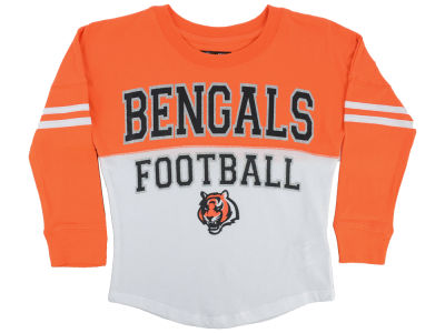 Cincinnati Bengals 5th & Ocean NFL Youth Girls Sweeper Long Sleeve T-Shirt