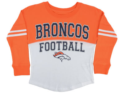 Denver Broncos 5th & Ocean NFL Youth Girls Sweeper Long Sleeve T-Shirt