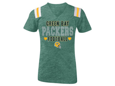Green Bay Packers 5th & Ocean NFL Youth Girls Heart Football T-Shirt
