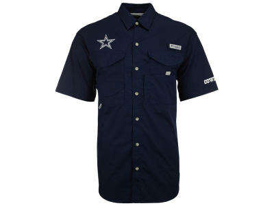 Dallas Cowboys Columbia NFL Men's Bonehead Short Sleeve Button Down Shirt