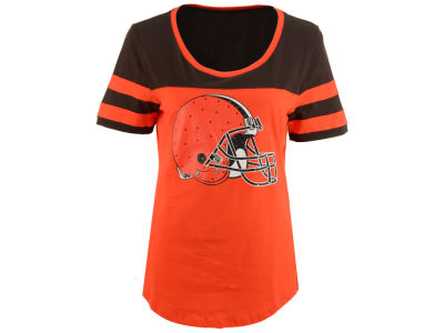 Cleveland Browns 5th & Ocean NFL Women's Limited Edition Rhinestone T-Shirt