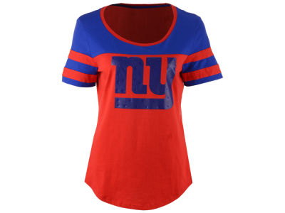 New York Giants 5th & Ocean NFL Women's Limited Edition Rhinestone T-Shirt