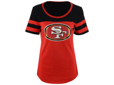 San Francisco 49ers 5th & Ocean NFL Women's Limited Edition Rhinestone T-Shirt