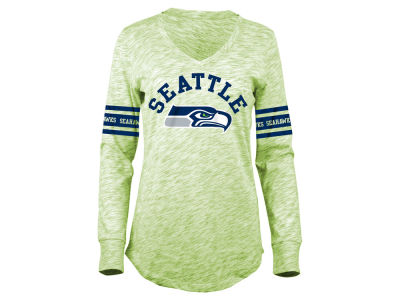 Seattle Seahawks 5th & Ocean NFL Women's Space Dye Long Sleeve T-Shirt