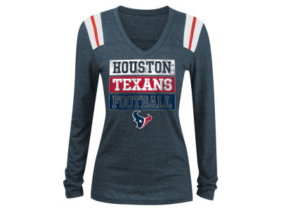Houston Texans 5th & Ocean NFL Women's Triple Threat Long Sleeve T-Shirt
