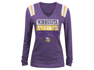 Minnesota Vikings 5th & Ocean NFL Women's Triple Threat Long Sleeve T-Shirt