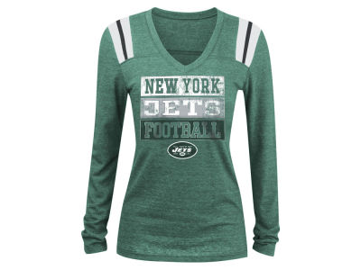 New York Jets 5th & Ocean NFL Women's Triple Threat Long Sleeve T-Shirt