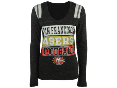 San Francisco 49ers 5th & Ocean NFL Women's Triple Threat Long Sleeve T-Shirt