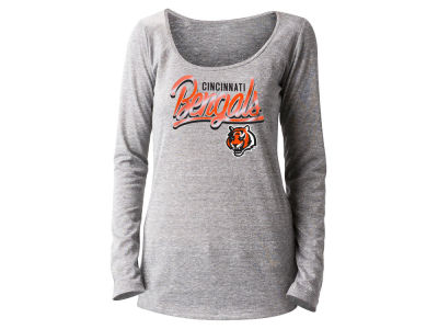 Cincinnati Bengals 5th & Ocean NFL Women's Lurex Foil Long Sleeve T-Shirt